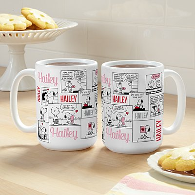 PEANUTS® Valentine Comic Panel Mug