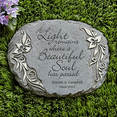 A Light Remains Memorial Garden Stone