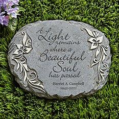 A Light Remains Memorial Garden Stone