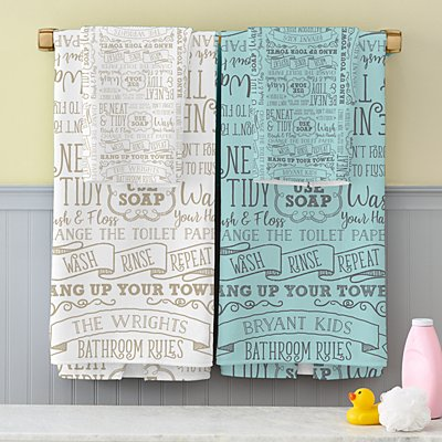 Bathroom Rules Bath Towels