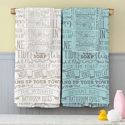 Bathroom Rules Bath Towels