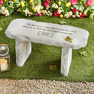 Beautiful Memories Sympathy Garden Bench