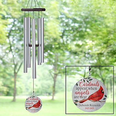 Cardinals Appear When Angels Are Near Memorial Wind Chime