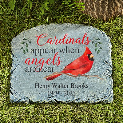 Cardinals Appear When Angels Are Near Memorial Stone