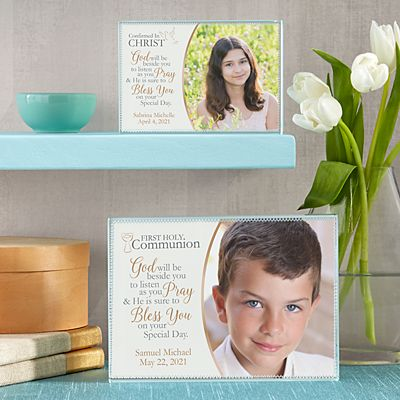 Communion/Confirmation Photo Blessing Glass Block