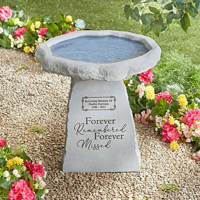 Forever Remembered Memorial Bird Bath