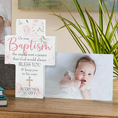 On Your Baptism Cross Frame