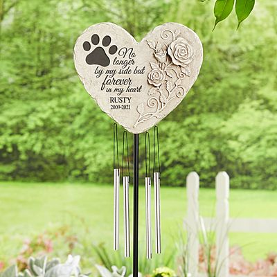 Pawprints On My Heart Garden Wind Chime