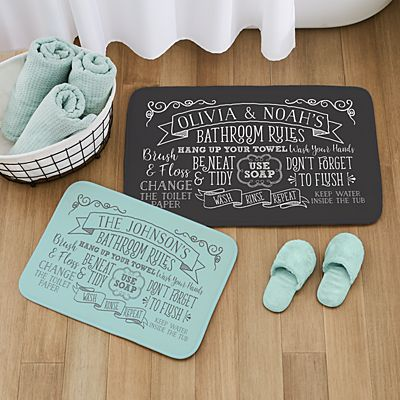 Bathroom Rules Bath Mat