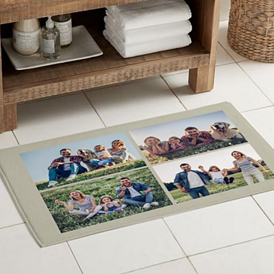 Picture Perfect Photo Tile Bath Mat