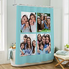 Picture Perfect Photo Tile Shower Curtain