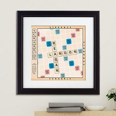 Scrabble®  Couple Framed Print