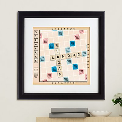 Scrabble®  Couple Framed Print