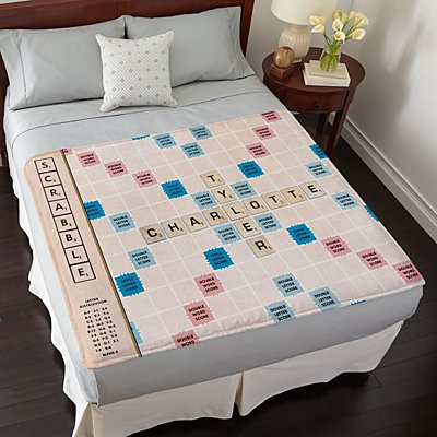 Scrabble®  Couple Plush Blanket