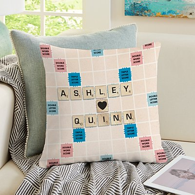 Scrabble®  Couple Throw Pillow