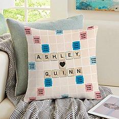 Scrabble®  Couple Throw Pillow