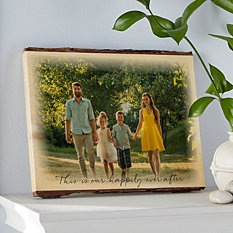 All Over Photo Rustic  Wood Sign