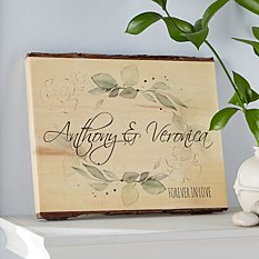 Floral Name Rustic  Wood Sign