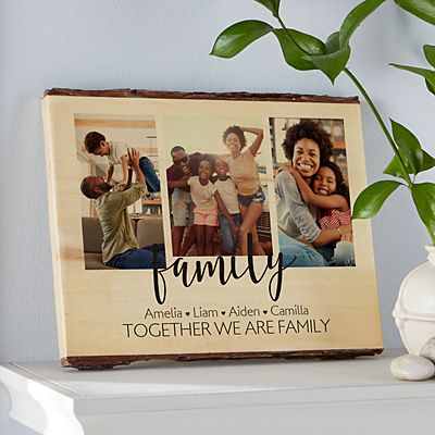 Heart of Our Family  Rustic Photo Wood Sign
