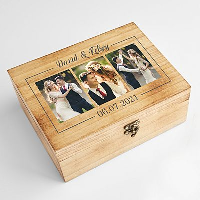 Photo Memories Wooden Keepsake Box