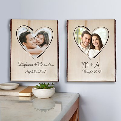 Together Forever Rustic Photo Wood Sign