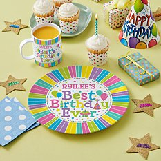 Best Birthday Ever Personalized Tableware