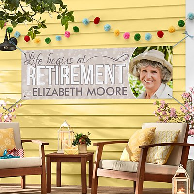 Life Begins At Retirement Photo Banner