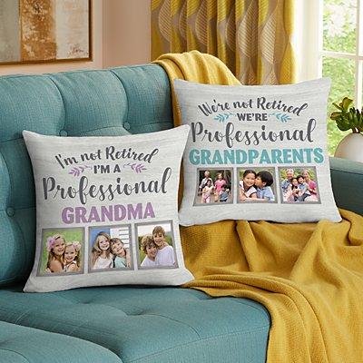 Professional Grandparent Photo Pillow