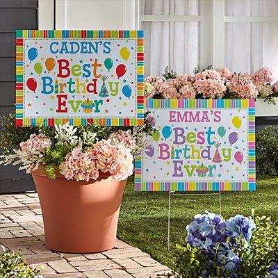 Best Birthday Ever 2-Sided Yard Signs