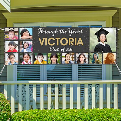 Through The Years Graduation Photo Banner