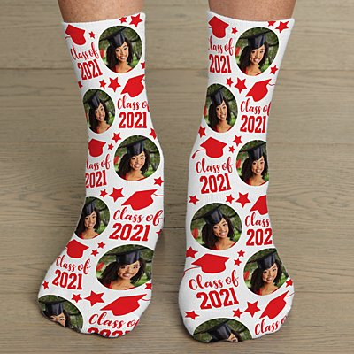 Class Of Graduation Photo Socks