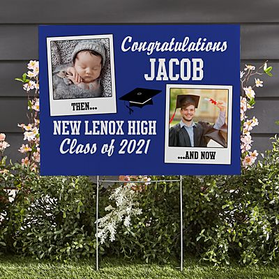 How Time Flies Graduation Yard Sign