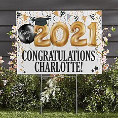 Up and Away Graduation 2-Sided Yard Sign