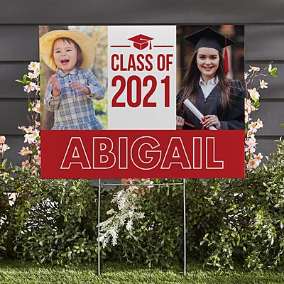 Way To Grow! Graduation 2-Sided Yard Sign