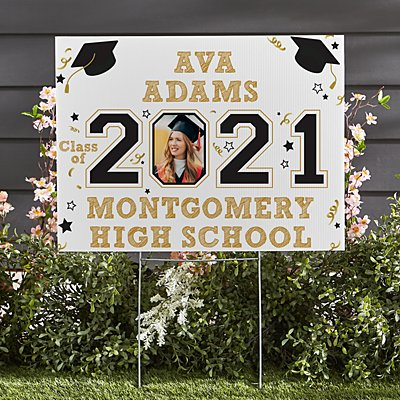Year Of The Graduate 2-Sided Photo Yard Sign