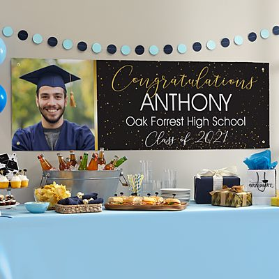Confetti Celebration Graduation Photo Banner