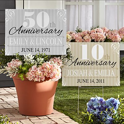 Anniversary 2-Sided Yard Sign with Stake