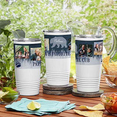 Papa Bear Photo Insulated Tumbler