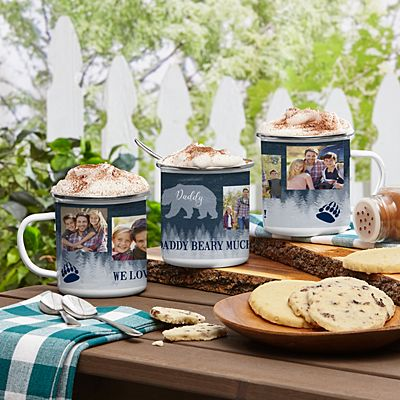 Papa Bear Photo Metal Enamel Mug