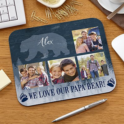 Papa Bear Photo Mouse Pad