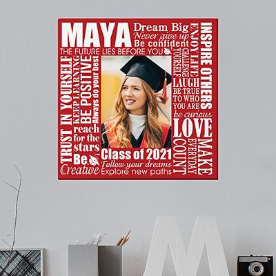 Dream Big Graduation Photo Canvas