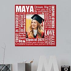 Dream Big Graduation Photo Canvas