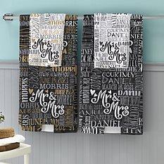 Signature Style Wedding Couple Bath Towels