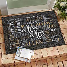 Signature Style Wedding Couple Doormats