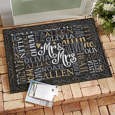 Signature Style Wedding Couple Doormats