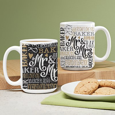 Signature Style Wedding Couple Mug