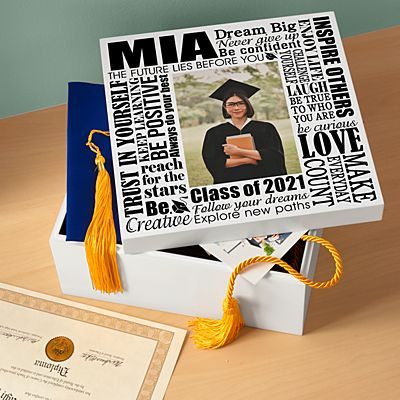 Dream Big Graduation Photo Keepsake Box