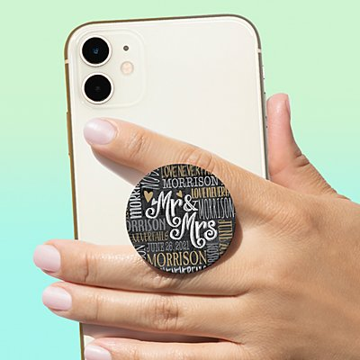 Signature Style Wedding Couple PopSockets PopGrip®