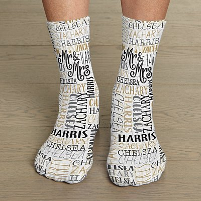 Signature Style Wedding Couple Socks