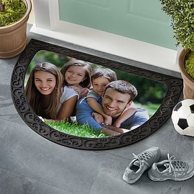 Picture Perfect Photo Half Round Doormat